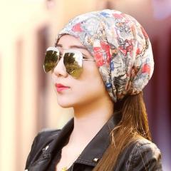 韩版夏天薄款女士头巾帽包头帽化疗套头帽月子帽堆堆帽睡帽秋冬天